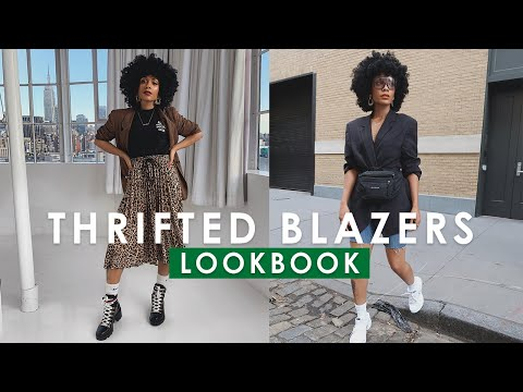 HOW TO STYLE: Thrifted Blazers || FALL LOOKBOOK 2018