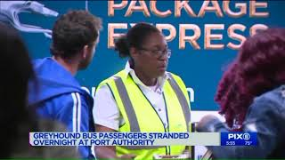 Greyhound bus passengers stranded overnight at Port Authority