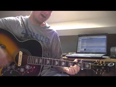 The Roller by Beady Eye acoustic guitar lesson / tutorial (easy version with no barre chord)