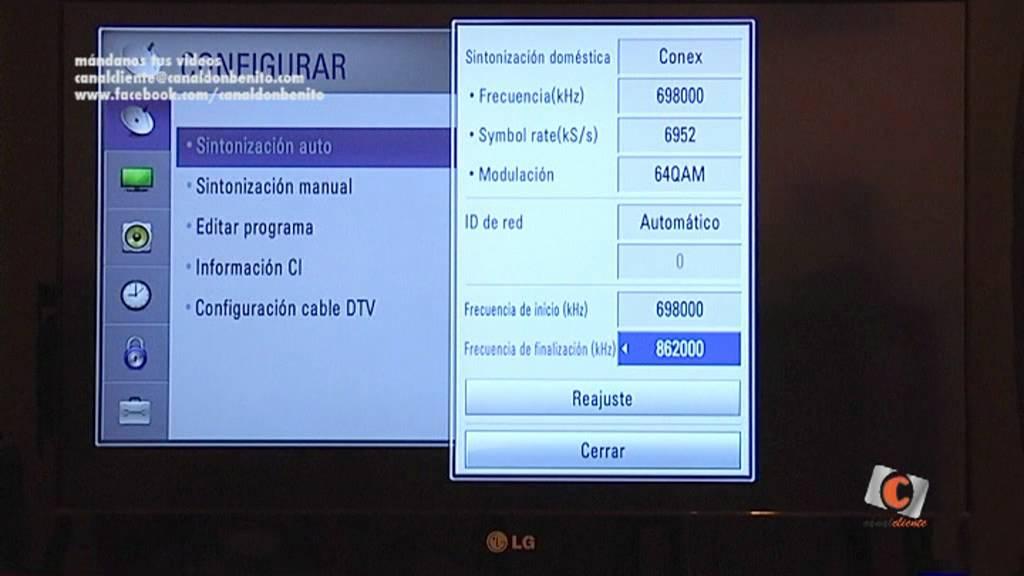 Sintonizaci 243 N Canal Don Benito En Tv Lg Youtube