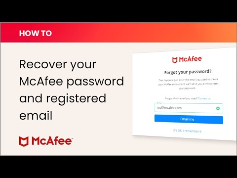 McAfee KB - How to recover your My Account email address or