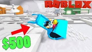 I PAID 500 ROBUX FOR THIS EXTREME MONSTER MACHINE IN ROBLOX SNOW SHOVELING SIMULATOR