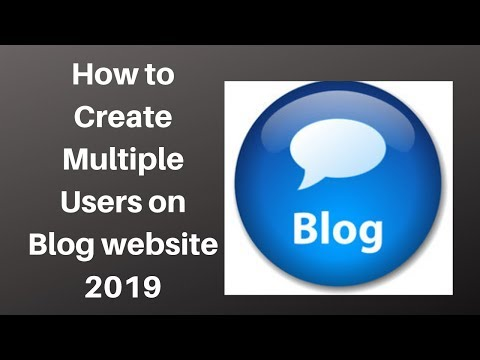 How to Create Multiple Users on Blog website 2019 | Digital Marketing Tutorial thumbnail