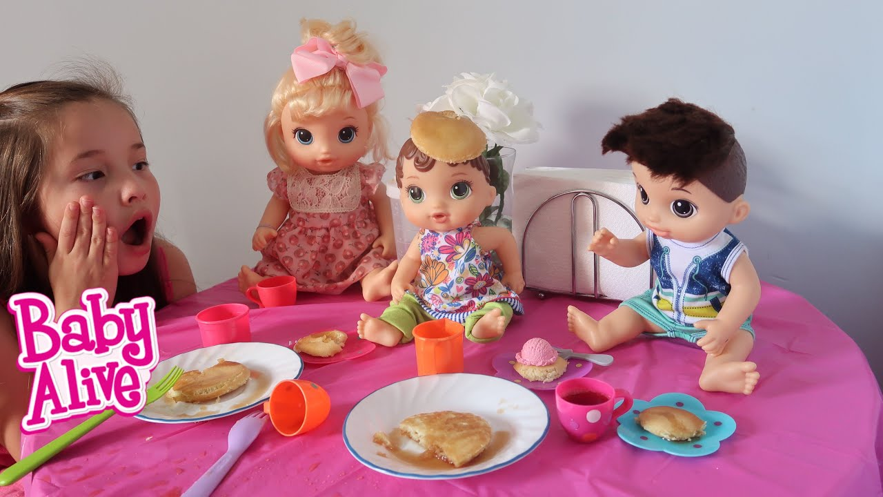 BABY ALIVES Go To The Restaurant baby alive videos - YouTube