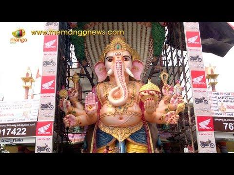 Khairatabad Ganesh Idol 2017 Exclusive Visuals | Hyderabad | Mango News