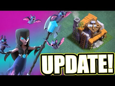 Thumbnail: BUILDERS HALL 6 IS HERE!! NEW UPDATE IN CLASH OF CLANS!! 🔥 NIGHT WITCH & ROASTER 🔥