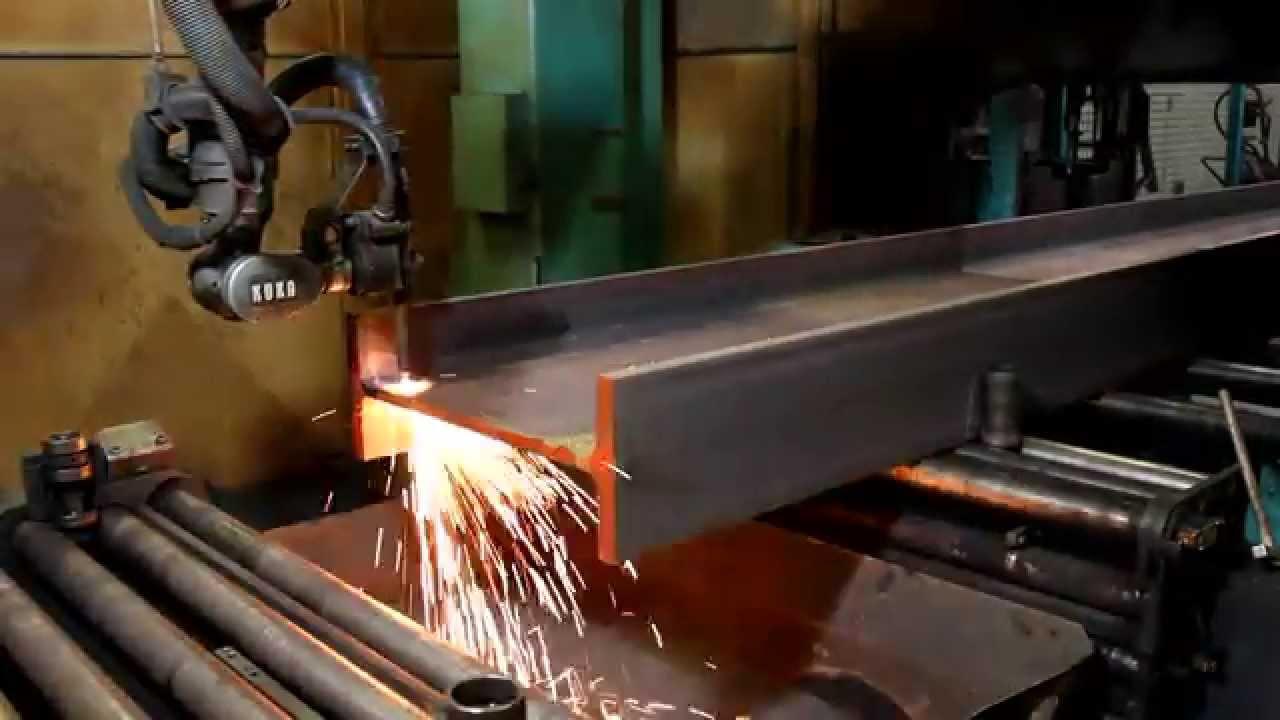 Berühmt HEM800 Stahlträger brennen und ausklinken - YouTube LF66