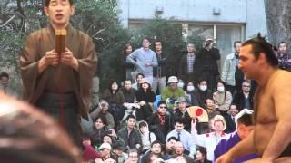 20120406靖国神社奉納相撲 琴欧洲vs鶴竜.