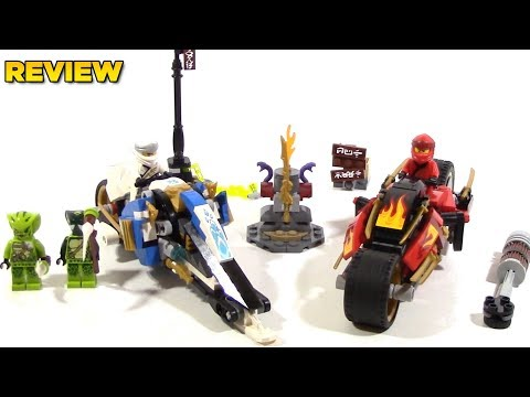 LEGO Ninjago Legacy 70667 Kais Blade Cycle and Zanes Snowmobile Review