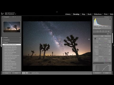How to Process the Milky Way using Adobe Lightroom CC