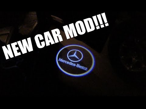 HOW TO INSTALL MERCEDES BENZ DOOR LIGHT (SHADOW LIGHT)!