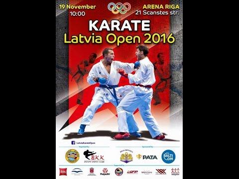 LIVE EVENT Latvia Karate Open 2016 Tatami 1