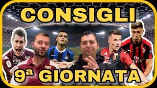 CONSIGLI FANTACALCIO  9ª GIORNATA Serie A...VINCERE È L' UNICA COSA CHE CONTA!