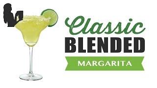 Traditional Blended Bar Margarita Recipe Made Using A Vitamix Or Blendtec Commercial Blender