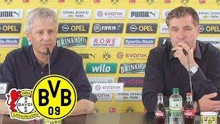 """""""Das 7:0 gibt uns Selbstvertrauen!""""   PK mit Favre und Zorc   Bayer 04 Leverkusen - BVB"""