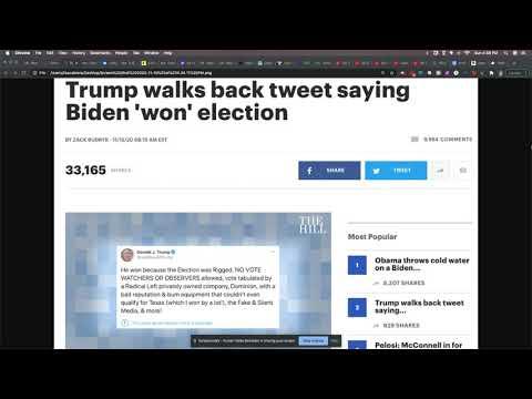 Trump Admits Biden Won, But Still Won't Concede