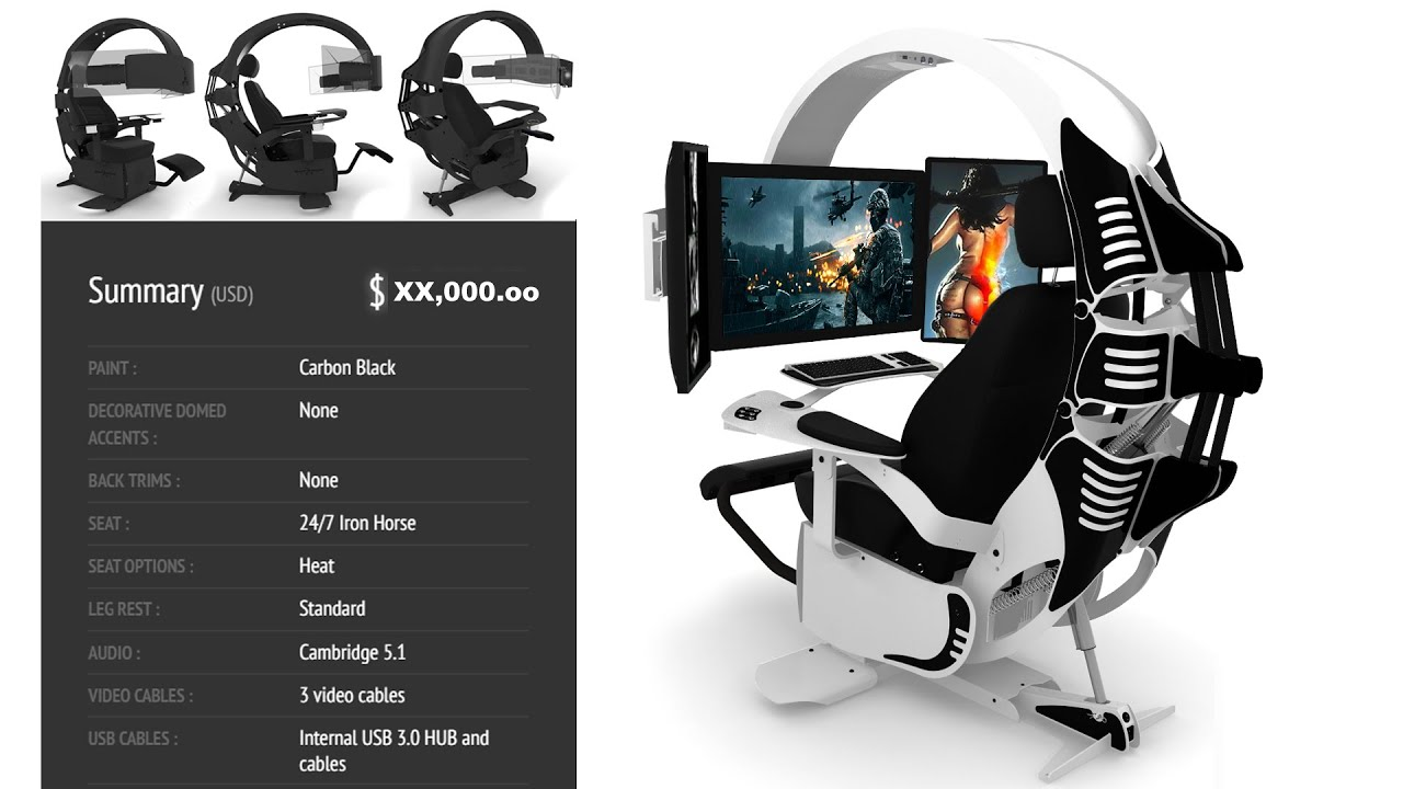 Ultimate Computer Gaming Chair The Ultimate Gaming Chair For $10000  Youtube
