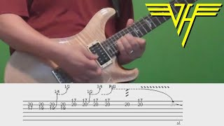 Guitar lesson with tabs - Van Halen - And the Cradle Will Rock!