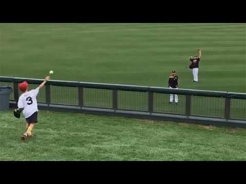 MLB Players Playing Catch With Fans