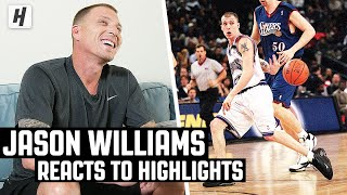 Jason 'White Chocolate' Williams Reacts To His NBA Highlights!