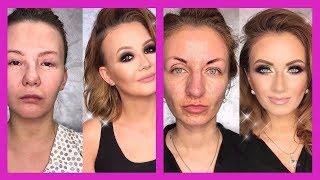 Шокирующие преображения после макияжа! До и После 2017
