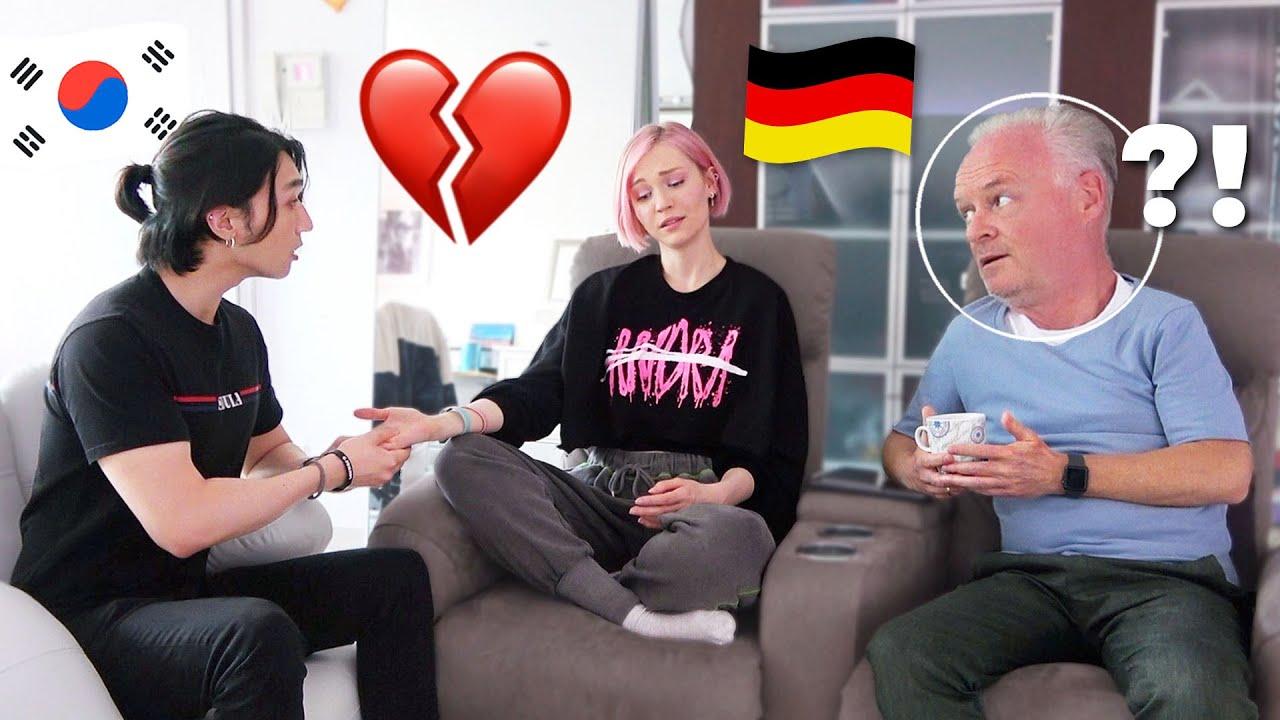 Breaking Up Prank On My DAD | Korean German Couple