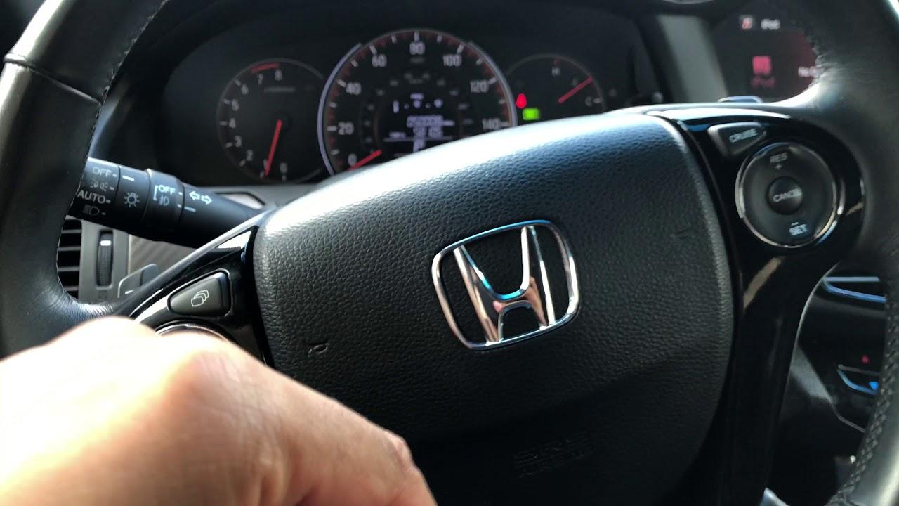 Traction control button location in a Honda Accord