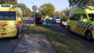 Twee gewonden na botsing tussen vier fietsers in Hoogeveen