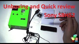 Sony smart Bluetooth handset SBH52: Unboxing and quick review