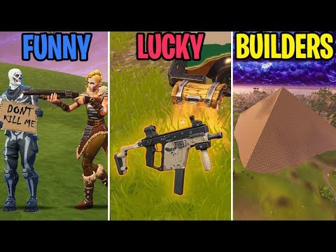 Noob BEGS for Mercy! FUNNY vs LUCKY vs BUILDERS! - Fortnite Battle Royale Funny Moments
