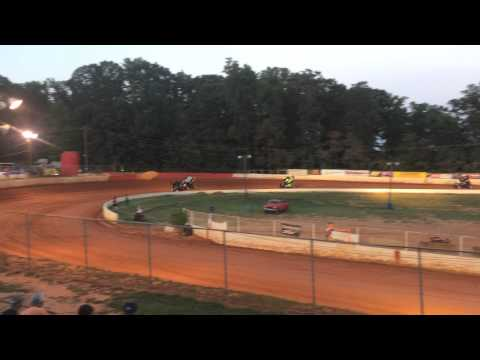 USCS Sprint Cars at East Lincoln Speedway Summer 2015
