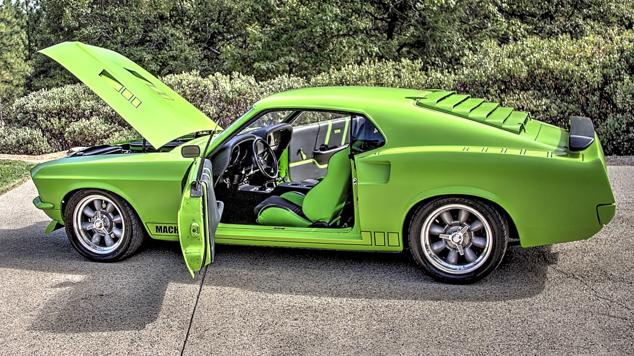 Sublime 69 Mach 1 Green Stealth Vector Design Dark Horse Dhc 351 Series Mustang 360 This