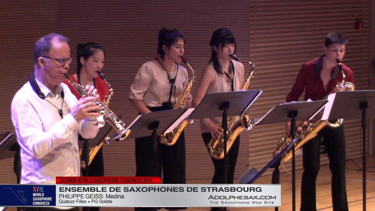 Medina by Philippe Geiss  Ensemble de Saxophones de Strasbourg   XVIII World Sax Congress 2018 #adol