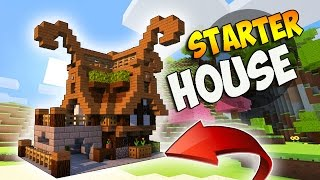 Minecraft: How To Build A Small Survival Starter House Tutorial Fantasy Build YouTube