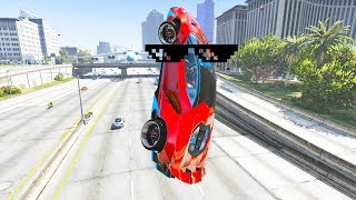 GTA 5 STUNTS & Wins, Fails Compilation #2 (GTA 5 Epic Moments, Thug Life)