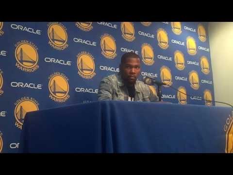 """Durant on Warriors-Cavs rivalry: """"you play against them in the playoffs and I haven"""