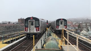 NYC Subway HD 60fps: Morning Rush Hour R188 7 Trains w/ CBTC Signalling (4/9/19)
