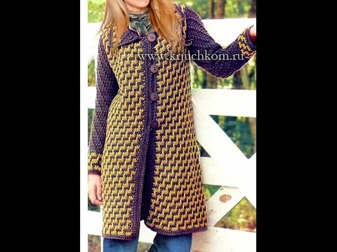 купить вязаное женское пальто