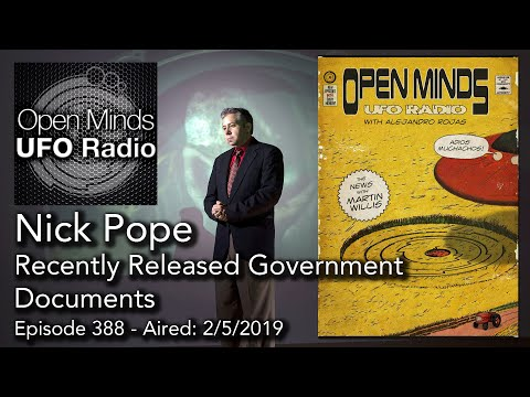 Open Minds UFO Radio: Nick Pope – Recently Released Government Documents
