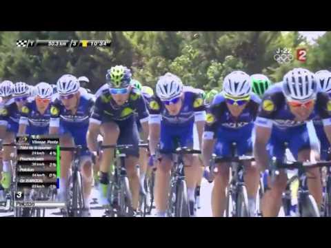 Etape 12 – Tour de France 2016 – Froome à pied !