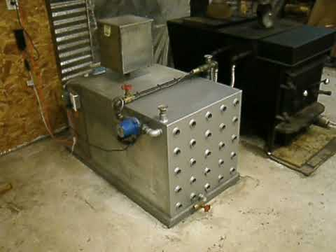 Wood stove Boiler for Shop in Montana.