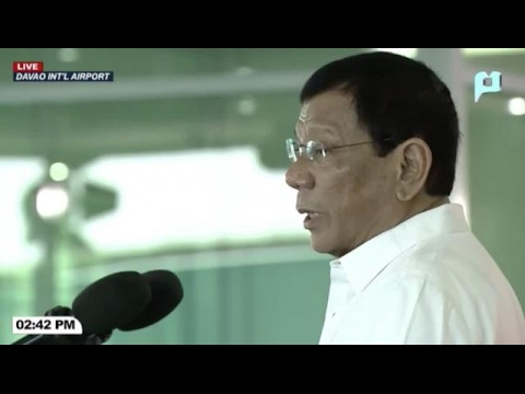 Duterte says he can't stop China from building on shoal