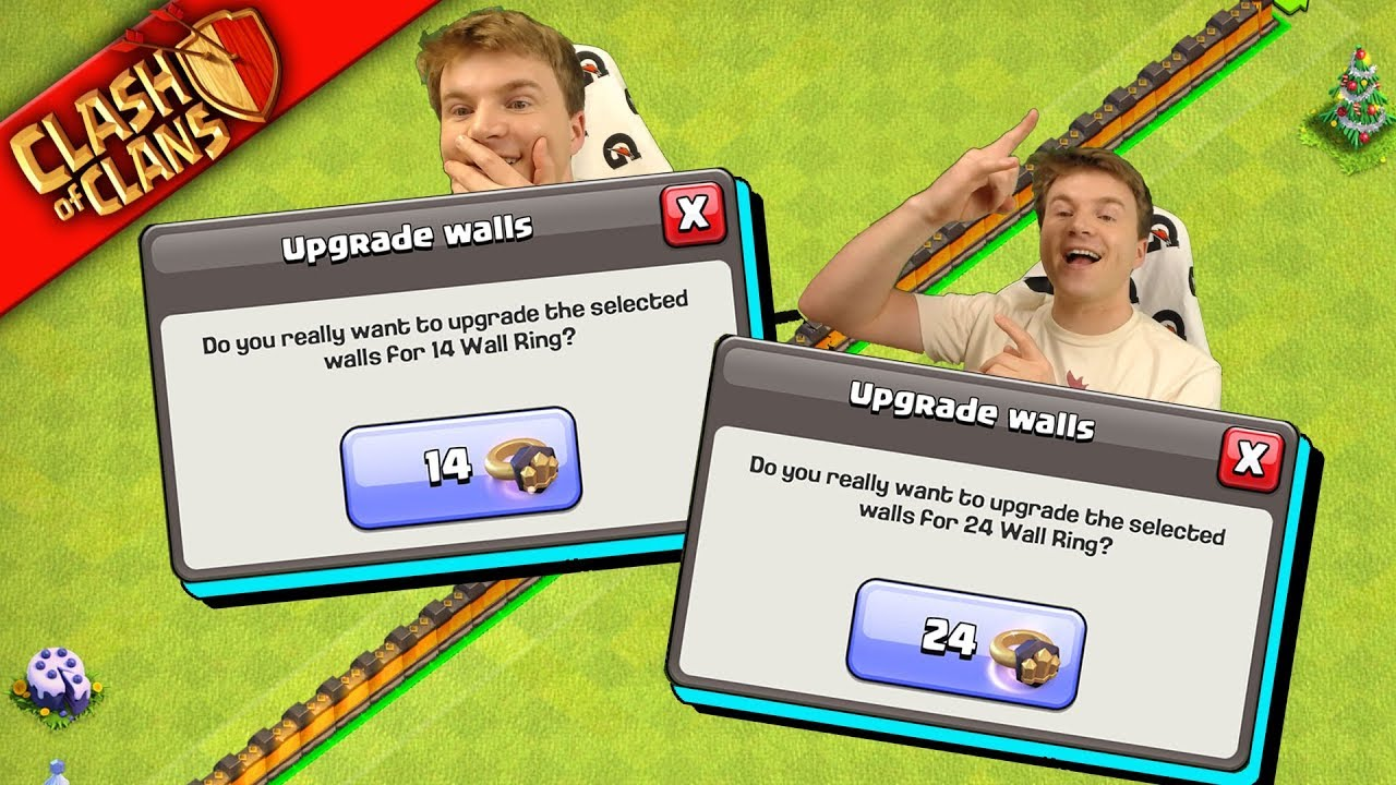 I JUST SPENT 38 WALL RINGS, WUT! ▶️ Clash of Clans ◀️ DARE YOU TO TRY ME