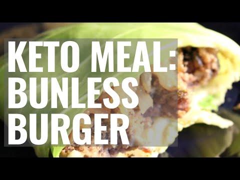 Keto Meal: Bunless Burgers