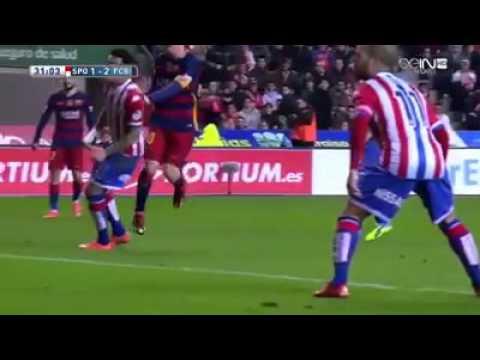 Download Sporting De Gijon - Barcelona 1-3 17/2/16 All Goals & Highlights Primera Division
