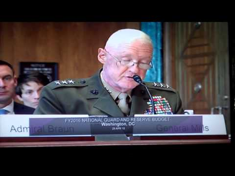 Defense Subcommittee Hearing: FY2016 National Guard & Reserve Budget