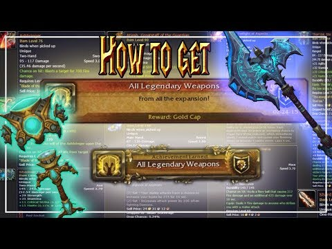 How to get Every Legendary│World of Warcraft Vanilla - Legion