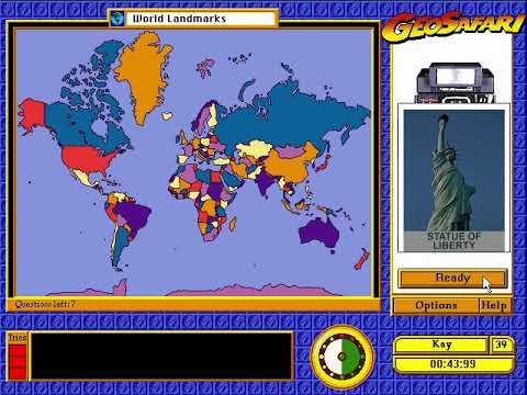 World Landmarks - Geosafari Gameplay PC DOS 1995/1996 ...