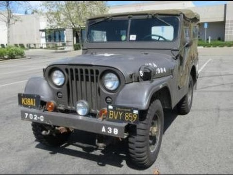 1956 Willys M38A1 Jeep on GovLiquidation.com - YouTube