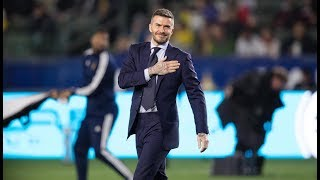 LA Galaxy legend David Beckham inducted into LA Galaxy Ring of Honor | #BeckhamStatue